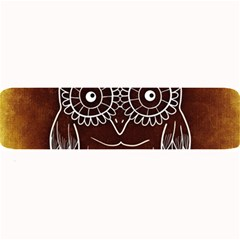 Owl Abstract Funny Pattern Large Bar Mats