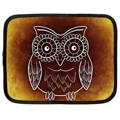 Owl Abstract Funny Pattern Netbook Case (large)
