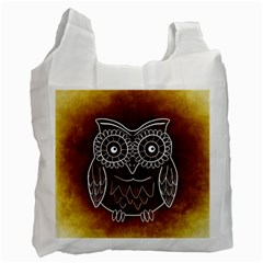 Owl Abstract Funny Pattern Recycle Bag (one Side)