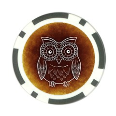Owl Abstract Funny Pattern Poker Chip Card Guard (10 pack)