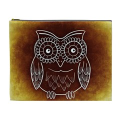 Owl Abstract Funny Pattern Cosmetic Bag (XL)