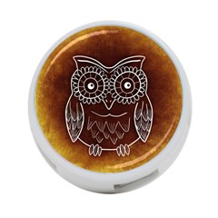 Owl Abstract Funny Pattern 4-Port USB Hub (Two Sides)