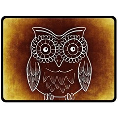 Owl Abstract Funny Pattern Fleece Blanket (Large)