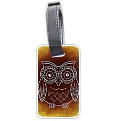 Owl Abstract Funny Pattern Luggage Tags (two Sides)