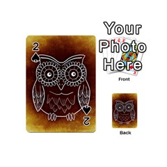 Owl Abstract Funny Pattern Playing Cards 54 (Mini)