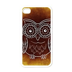 Owl Abstract Funny Pattern Apple iPhone 4 Case (White)