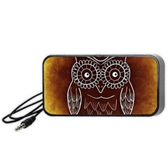 Owl Abstract Funny Pattern Portable Speaker (Black)