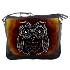 Owl Abstract Funny Pattern Messenger Bags