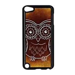 Owl Abstract Funny Pattern Apple iPod Touch 5 Case (Black)