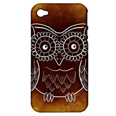 Owl Abstract Funny Pattern Apple iPhone 4/4S Hardshell Case (PC+Silicone)