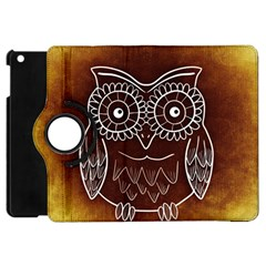 Owl Abstract Funny Pattern Apple iPad Mini Flip 360 Case