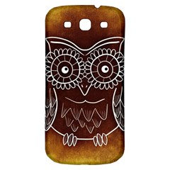 Owl Abstract Funny Pattern Samsung Galaxy S3 S III Classic Hardshell Back Case