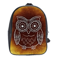 Owl Abstract Funny Pattern School Bags (XL)