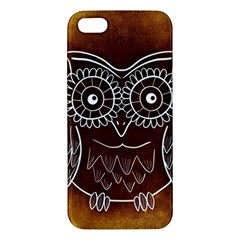 Owl Abstract Funny Pattern Iphone 5s/ Se Premium Hardshell Case