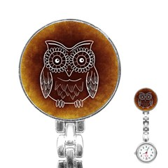 Owl Abstract Funny Pattern Stainless Steel Nurses Watch