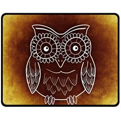 Owl Abstract Funny Pattern Double Sided Fleece Blanket (medium)
