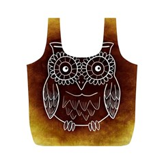 Owl Abstract Funny Pattern Full Print Recycle Bags (m)