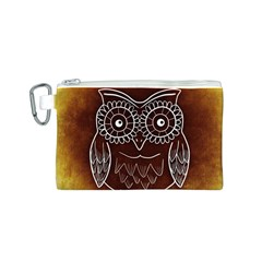 Owl Abstract Funny Pattern Canvas Cosmetic Bag (S)