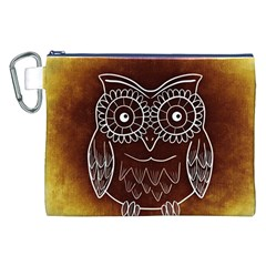 Owl Abstract Funny Pattern Canvas Cosmetic Bag (XXL)
