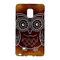 Owl Abstract Funny Pattern Galaxy Note Edge