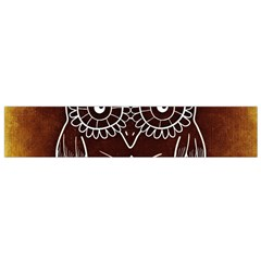 Owl Abstract Funny Pattern Flano Scarf (Small)