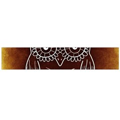 Owl Abstract Funny Pattern Flano Scarf (Large)