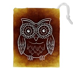 Owl Abstract Funny Pattern Drawstring Pouches (XXL)