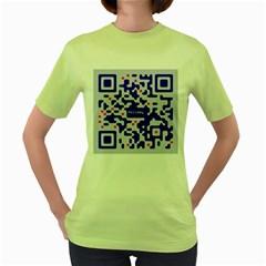 Qr Code Congratulations Women s Green T-Shirt