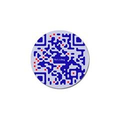 Qr Code Congratulations Golf Ball Marker (10 pack)