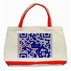 Qr Code Congratulations Classic Tote Bag (red)
