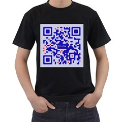 Qr Code Congratulations Men s T-Shirt (Black)