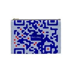 Qr Code Congratulations Cosmetic Bag (Medium)