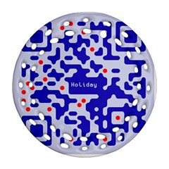 Qr Code Congratulations Round Filigree Ornament (Two Sides)
