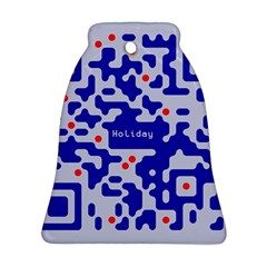 Qr Code Congratulations Bell Ornament (Two Sides)