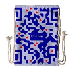 Qr Code Congratulations Drawstring Bag (Large)