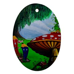 Kindergarten Painting Wall Colorful Ornament (Oval)