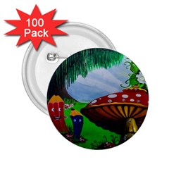 Kindergarten Painting Wall Colorful 2.25  Buttons (100 pack)