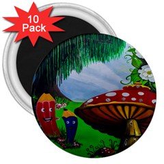 Kindergarten Painting Wall Colorful 3  Magnets (10 pack)