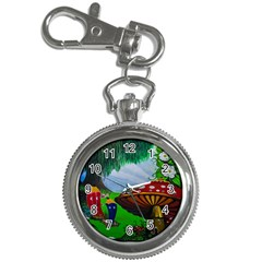 Kindergarten Painting Wall Colorful Key Chain Watches