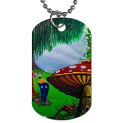 Kindergarten Painting Wall Colorful Dog Tag (Two Sides)