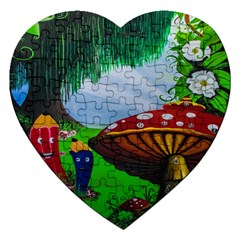 Kindergarten Painting Wall Colorful Jigsaw Puzzle (Heart)
