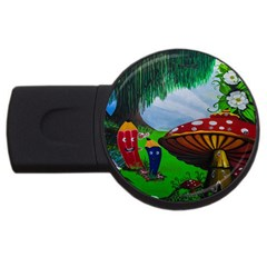 Kindergarten Painting Wall Colorful USB Flash Drive Round (4 GB)