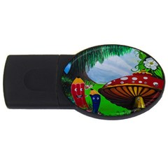 Kindergarten Painting Wall Colorful USB Flash Drive Oval (4 GB)
