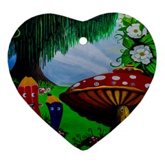 Kindergarten Painting Wall Colorful Heart Ornament (Two Sides)