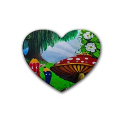 Kindergarten Painting Wall Colorful Rubber Coaster (Heart)