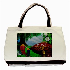 Kindergarten Painting Wall Colorful Basic Tote Bag (Two Sides)
