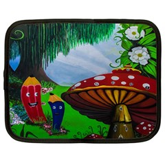 Kindergarten Painting Wall Colorful Netbook Case (Large)