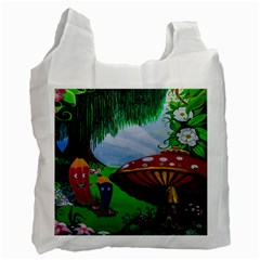 Kindergarten Painting Wall Colorful Recycle Bag (one Side)