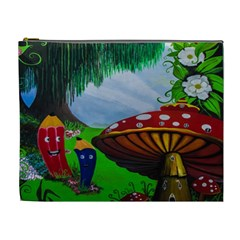 Kindergarten Painting Wall Colorful Cosmetic Bag (XL)