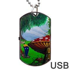 Kindergarten Painting Wall Colorful Dog Tag USB Flash (Two Sides)